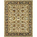 Safavieh Handmade Classic Heirloom Ivory/ Navy Wool Rug - 9'6 x 13'6