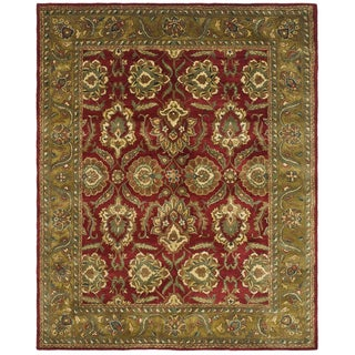 Safavieh Handmade Heritage Timeless Traditional Red/ Gold Wool Rug (8' x 11')