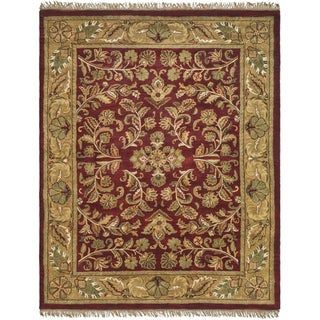 Safavieh Handmade Heritage Timeless Traditional Red/ Gold Wool Rug (7' 6 x 9' 6 )