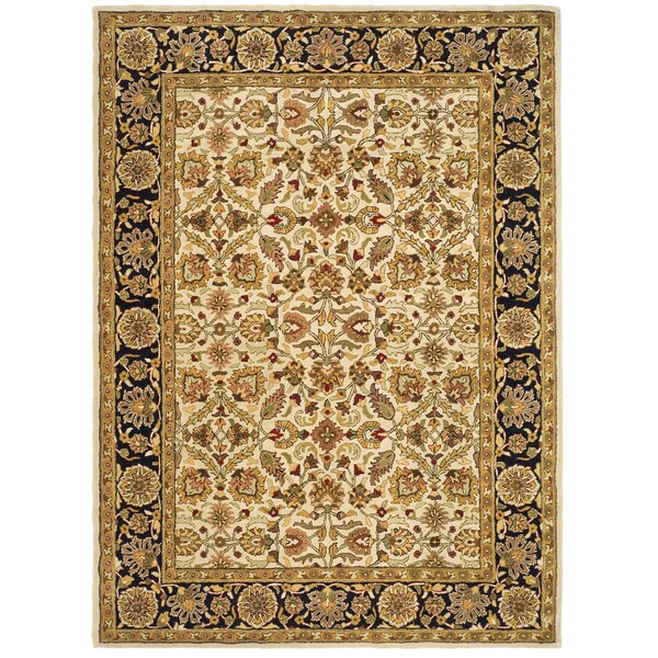 Safavieh Handmade Heritage Timeless Traditional Beige/ Black Wool Rug (8' x 11')
