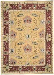 Nourison Samarkand Flatweave Reversible Yellow Wool Rug (9'9 x 13'9) - Thumbnail 1
