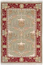 Nourison Samarkand Flatweave Reversible Olive Wool Rug (3'9 x 5'9)