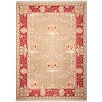 "Nourison Samarkand Flatweave Reversible Olive Wool Rug - 9'9"" x 13'9"""