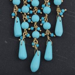 Goldplated Turquoise Raindrop Earrings (India)