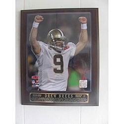 NFL-licensed Drew Brees Celebration Plaque