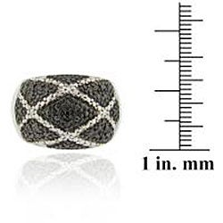 DB Designs Sterling Silver Black Diamond Accent Ring