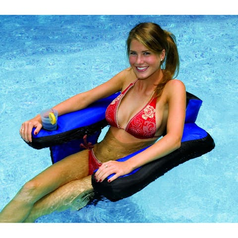Swimline Fabric Covered U-Seat Pool Inflatable