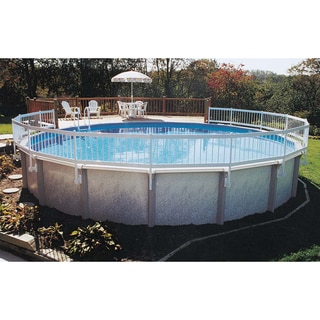gli above ground pool fence add on kit c 2 sections white