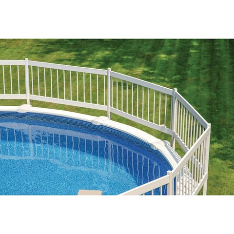 "GLI Above Ground Pool Fence Add-On Kit C (2 Sections) - White - 24"" by 64.5"""