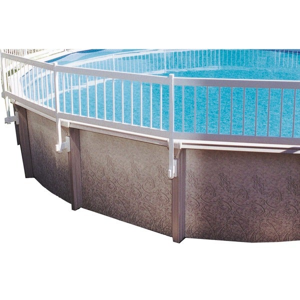 Above Ground Pool Fence gli above ground pool fence kit (8 section) - white - free