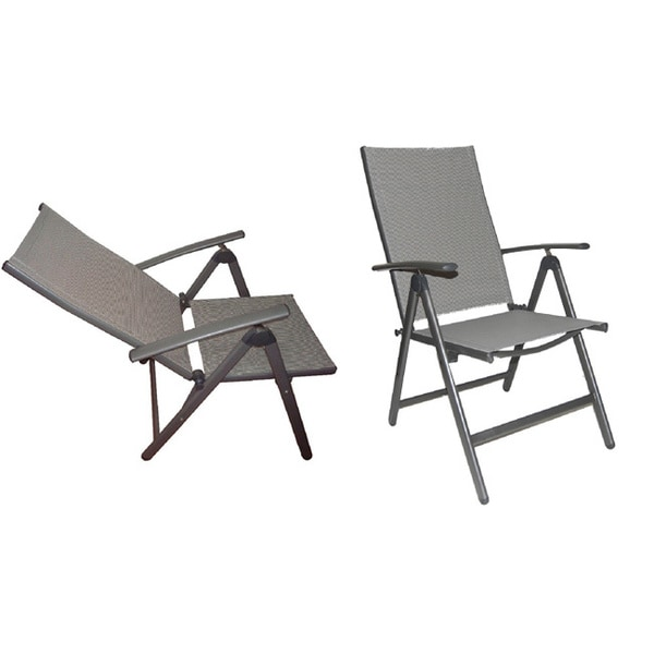Deluxe Reclining High Back Patio Chairs Set Of Free Shipping