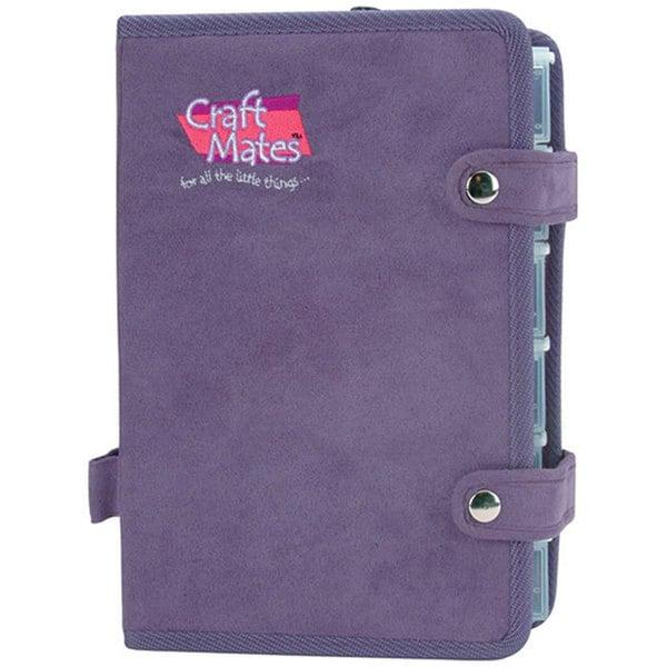 Craft Mates Ezy Snappin' Petite Purple Ultrasuede Double Organizer
