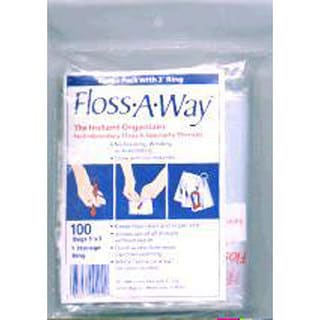 Action Bag Floss-A-Way 3x5-inch Organizer (Pack of 100)