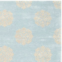 Safavieh Handmade Soho Medallion Light Blue N. Z. Wool Rug (8'3 x 11') - Thumbnail 1