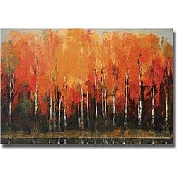 Peter Colbert 'Birch Shoreline' Unframed Canvas Art