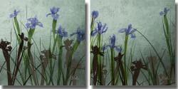 Patricia Pinto 'Blue Iris I & II' 2-piece Unframed Art Set - Thumbnail 1