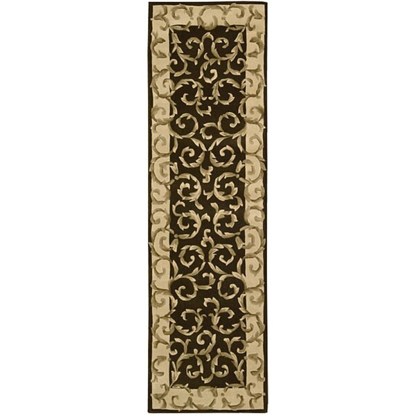 Nourison Hand-tufted Versaille Palace Chocolate Rug (2'3 x 8')