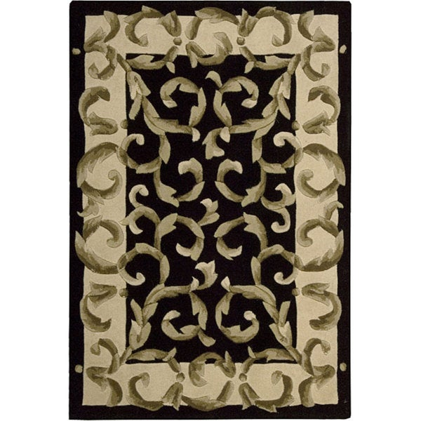 Nourison Hand-tufted Versaille Palace Black Rug (3'6 x 5'6)