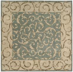 Nourison Hand-tufted Versaille Palace Aqua Rug (3'6 x 5'6) - Thumbnail 2