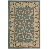 "Nourison Hand-tufted Versaille Palace Aqua Rug (3'6 x 5'6) - 3'6"" x 5'6"""