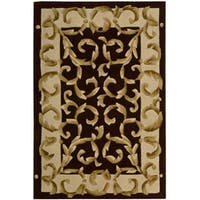 Nourison Hand-tufted Versaille Palace Chocolate Rug (5'3 x 8'3) - 5'3 x 8'3