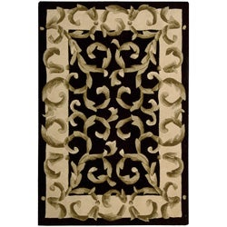 Nourison Hand-tufted Versaille Palace Black Rug (5'3 x 8'3) - Thumbnail 0