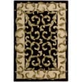 Nourison Hand-tufted Versaille Palace Black Rug - 5'3 x 8'3