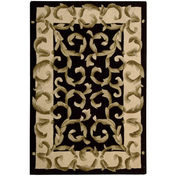 Nourison Hand-tufted Versaille Palace Black Rug (8' x 11')