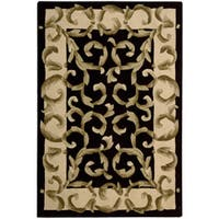 Nourison Hand-tufted Versaille Palace Black Rug - 8' x 11'