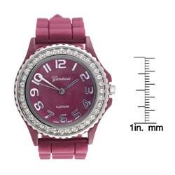 Geneva Women's Platinum Silicone Link Watch