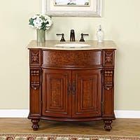 Silkroad Exclusive Elma Single Sink Traditional Bathroom Vanity