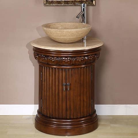 Silkroad Exclusive Bellevue 24-inch Vessel Sink Bathroom Vanity