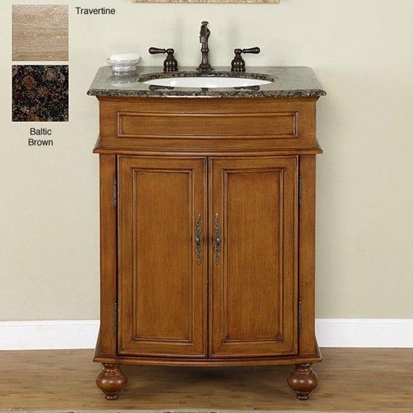 Silkroad Exclusive Renton 26 Inch Single Sink Bathroom Vanity Free Shipping Today Overstock