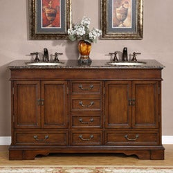 Silkroad Exclusive Tenino 60-inch Double-sink Bathroom Vanity