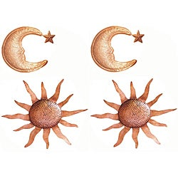 Celestial Copperplated Wall Hangings (Set of 2)
