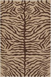 Hand-knotted Mandara Animal Print Wool Rug (7'9 x 10'6) - Thumbnail 2