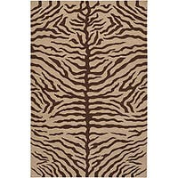 Hand-knotted Mandara Animal Print Wool Rug (7'9 x 10'6) - 7'9 x 10'6