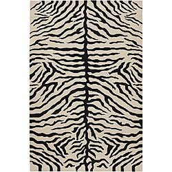 Artist's Loom Hand-knotted Contemporary Animal Print Wool Rug - 7'9 x 10'6 - Thumbnail 0