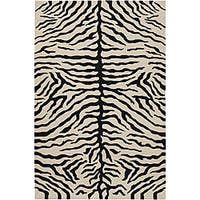 Artist's Loom Hand-knotted Contemporary Animal Print Wool Rug - 7'9 x 10'6