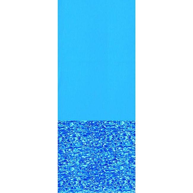 Swimline Swirl Bottom 21-ft Round Overlap Pool (Blue) Lin...