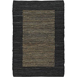 Artist's Loom Hand-woven Casual Border Natural Eco-friendly Fiber Rug (7'9 x 10'6)