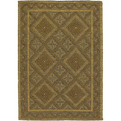 Artist's Loom Handmade Flatweave Contemporary Geometric Natural Eco-friendly Jute Rug (5'x7'6)