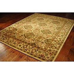 Safavieh Handmade Tabriz Beige/ Olive Wool Rug (6' x 9')