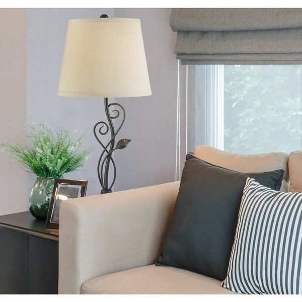 Cirrus bronze table lamp free shipping today overstock for Cirrus bronze floor lamp
