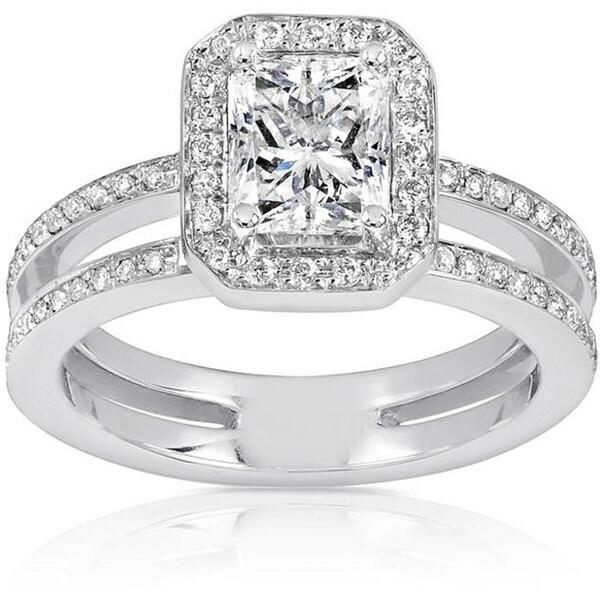 Annello by Kobelli 14k Gold 1 1/3ct TDW Diamond Engagement Ring (H-I, I1-I2)