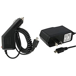 Insten Portable Micro USB Car and Travel Charger for HTC One M9/ Samsung Galaxy S6/ Edge/ Motorola Nexus 6