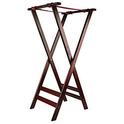Admiral Craft Equipment 38-in Mahogany Tray Stand