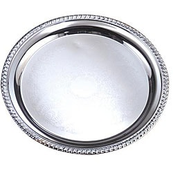 American Metalcraft 12-in Round Chrome Tray