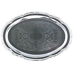 American Metalcraft Oval Chrome Serving Tray