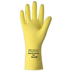 Ansell Protective Product 12-in Large Yellow Latex Gloves